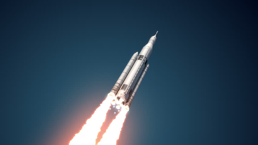 Space Launch System Takes Off. 3D Animation. Ultra High Definition. 4K  | Shutterstock HD Video #10766594