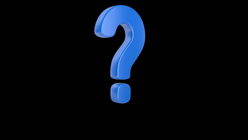 Jump up blue question mark on a white background. Alpha channel is included   Shutterstock HD Video #10767392