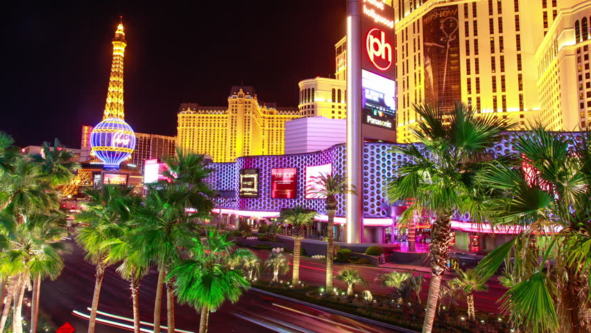 2015,Editorial time lapse clip of Caesars Palace, Bellagio, Paris and other resorts on the Las Vegas strip. | Shutterstock HD Video #10774502