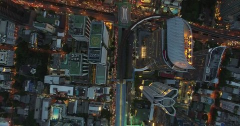 Bangkok City footage, aerial view