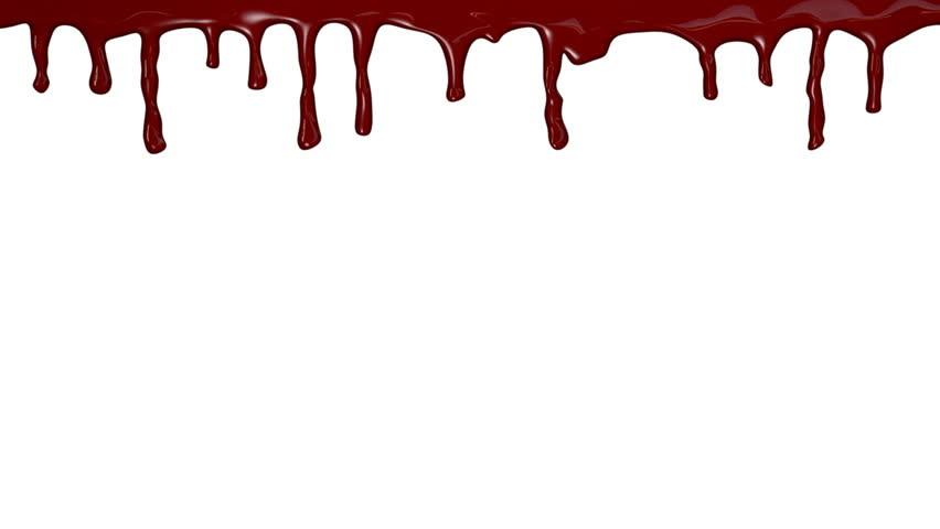 blood dripping down over white background stock footage