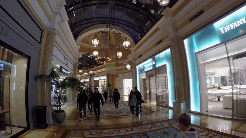 LAS VEGAS, - APRIL 15: Passage through the Bellagio boutiques mall. April 15, 2015 in Las Vegas, Nevada, USA.
