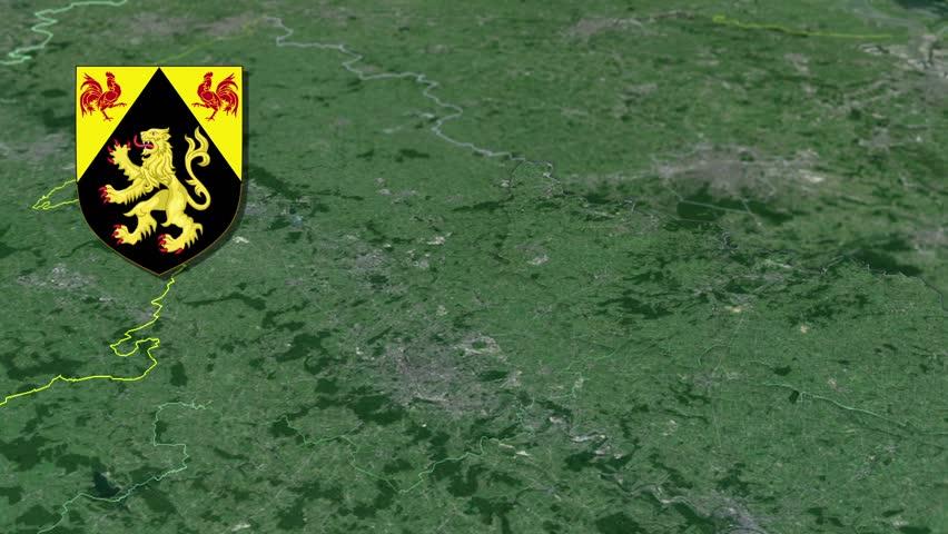 Namur White Coat Of Arms Animation Map Provinces Of Belgium Namur