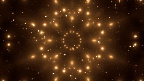 VJ Fractal orange kaleidoscopic background. Background motion with fractal design. Disco spectrum lights concert spot bulb. More sets footage in my portfolio.
