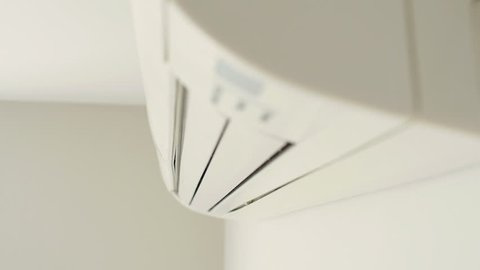 Air conditioner on wall.
