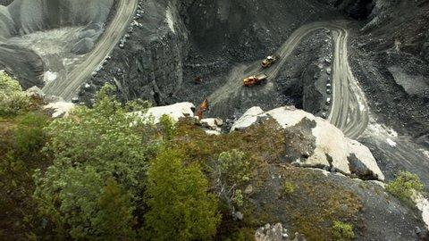 Aerial shot of a quarry