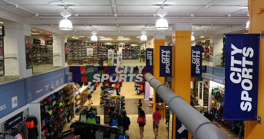 Sporting goods store interior