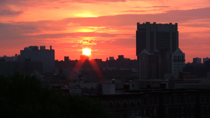 Sunrise over City.