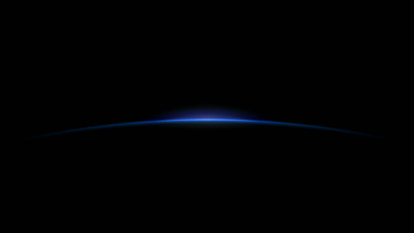 Stock Video of a sunrise on the horizon of the planet.
