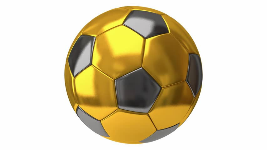 94dbea019 Gold and Silver Soccer Ball Stock Footage Video (100% Royalty-free ...