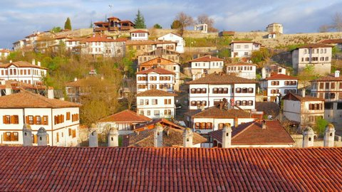 Day Timelapse, Traditional Ottoman Anatolian Village, Safranbolu, Turkey, zoom out