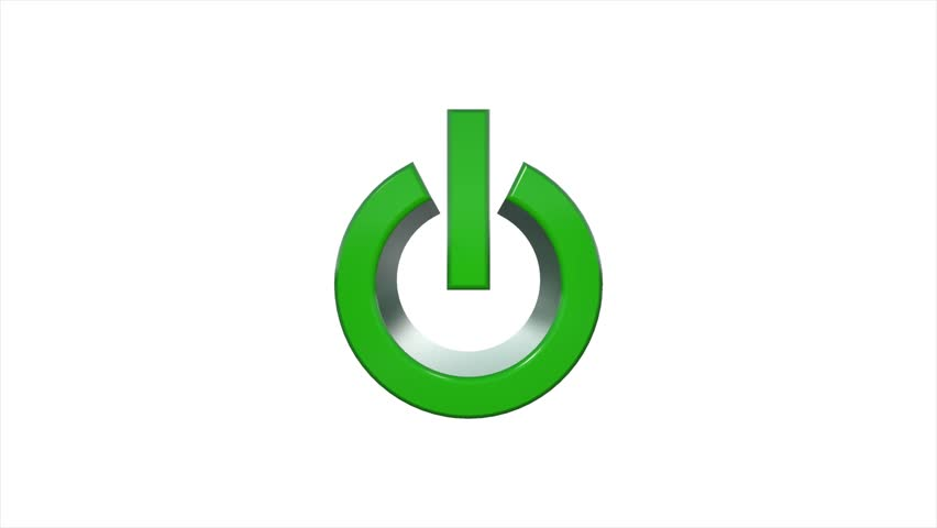 3d Power On Off Symbol Logo Animation Stock Footage Video 11348072