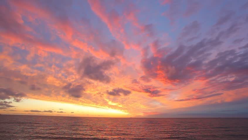 Cloudscape at the sunset over the North Sea  #11393792