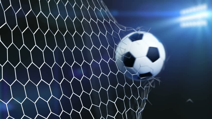 4k slow motion 3d animation of soccer ball flying and tearing goal 4k slow motion 3d animation of soccer ball flying and tearing goal net on dark background with stadium lights breaking of net on a soccer goals reheart Choice Image