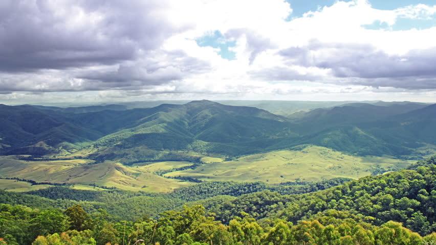 Beautiful mountains panorama. time lapse. High quality Footage - Original Size 4k (4096x2304).
