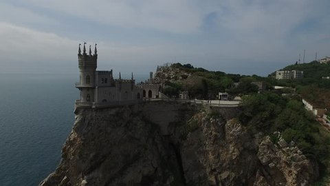 Swallow's Nest, Crimea, aerial shot