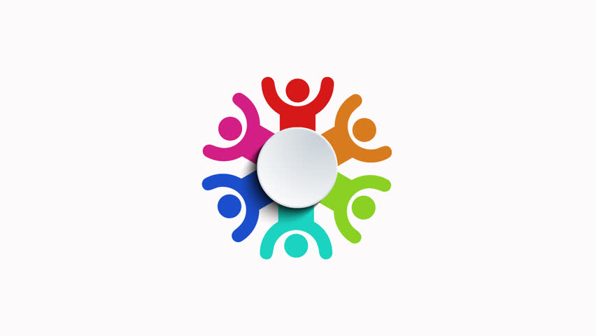 Group of people logo animation on white background | Shutterstock HD Video #11436452