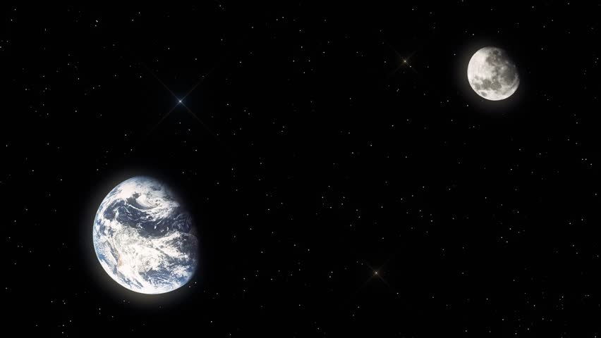 Earth and Moon View from Stock Footage Video (100% Royalty-free) 11437562 |  Shutterstock