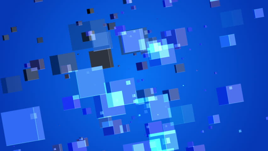 Blue abstract background, particles cubes, loop | Shutterstock HD Video #11467652