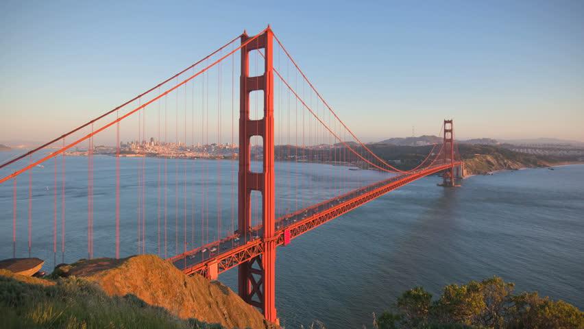 San Francisco Golden Gate Bridge sunset timelapse