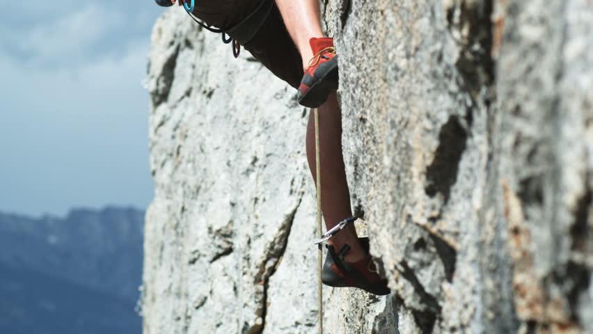 Rock climber on a wall   Shutterstock HD Video #11501462