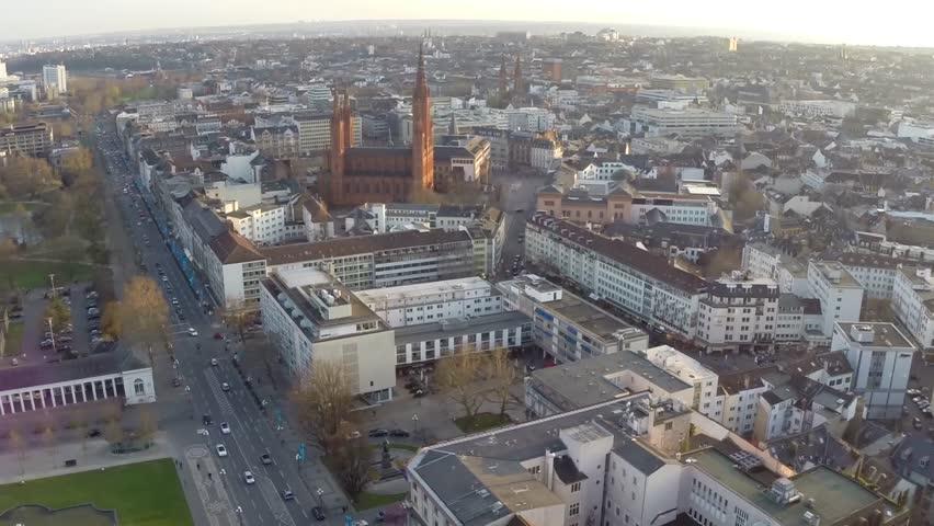 Aerial Flight over Wiesbaden Germany | Shutterstock HD Video #11522462