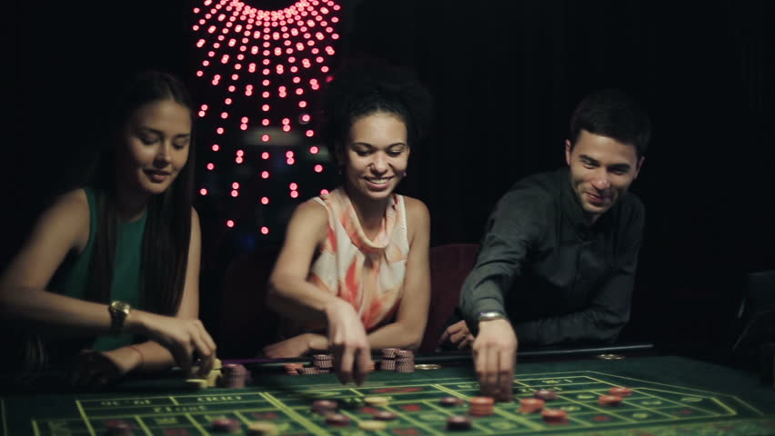People placing bets for roulette in casino. Steadicam shot | Shutterstock HD Video #11536952