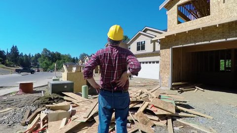 Construction worker with back pain