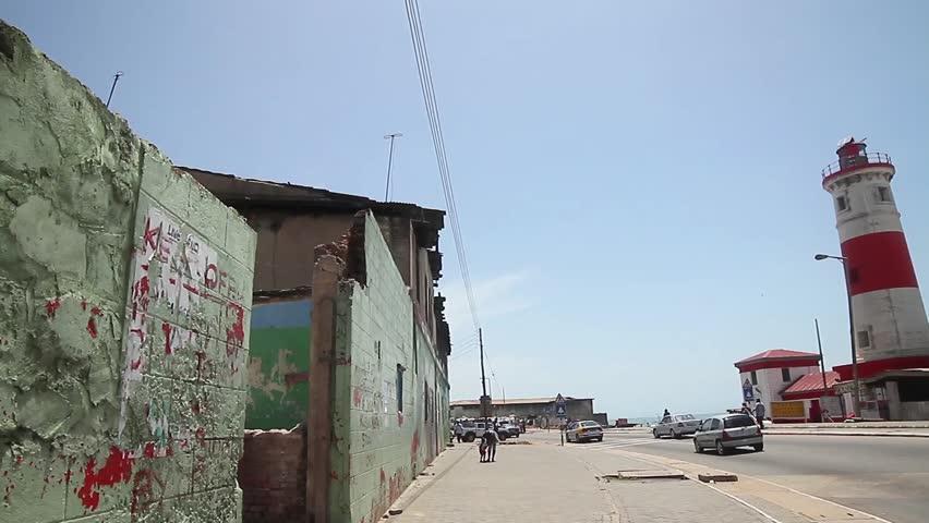 Light house long shot, British James town, Ghana