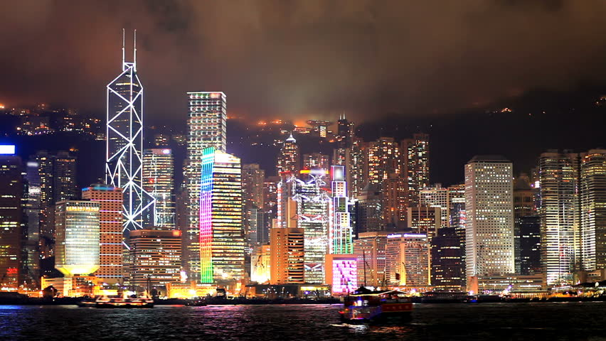 Skyscrapers in Hong Kong. Timelapse   Shutterstock HD Video #1158322