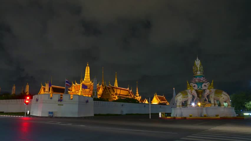 Wat Phra Kaew is regarded as the most sacred Buddhist temple in Thailand. It is a potent religio political symbol and the palladium of Thai society. | Shutterstock HD Video #11616212