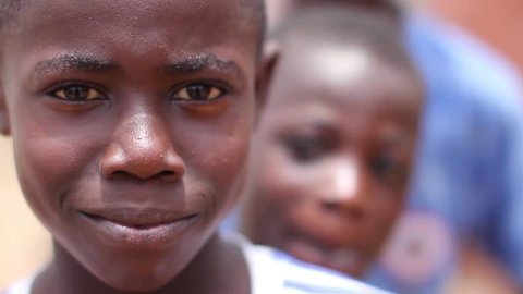 Smiling face of  an African boy, Abidjan Ivory Cost, June 2015