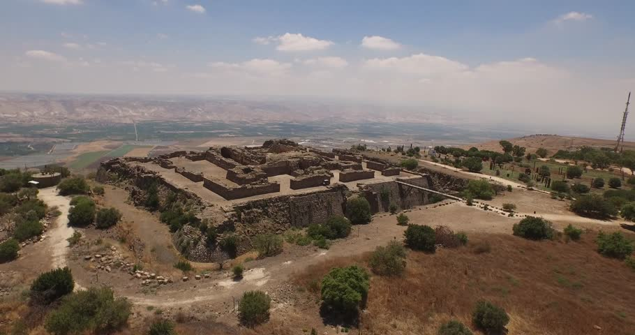 Sweeping aerial 4K view of Belvoir Fortress (Kochav Hayarden), Israel. Filmed with permission from Israel's National Parks Authority, flying the DJI Inspire 1 drone.