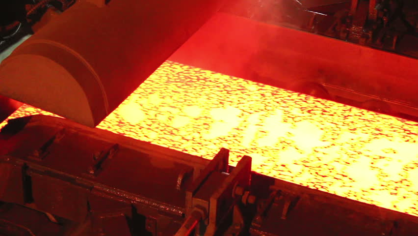 Hot slab are moving in mill, Production of steel plants that look very elegant, Background of industry steel. | Shutterstock HD Video #11655581