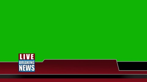 "Live ""breaking News"" Lower Third Graphic For Titles - Green Screen - Red 2"