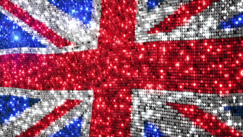 Stock video of british flag. sequins. loopable. uk flag | 11740262 ...