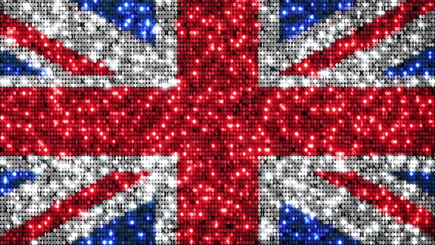 Stock video of uk flag animation. sequins. loopable from | 11745272 ...
