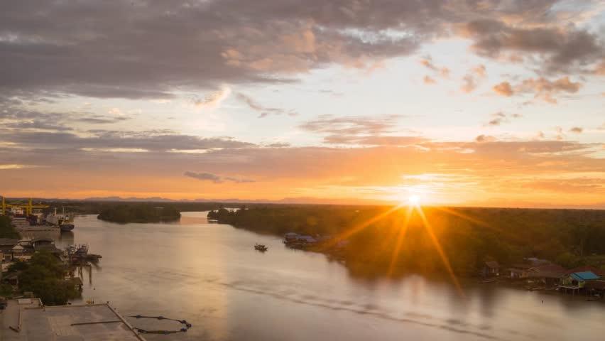 Sunset near the river | Shutterstock HD Video #11745452