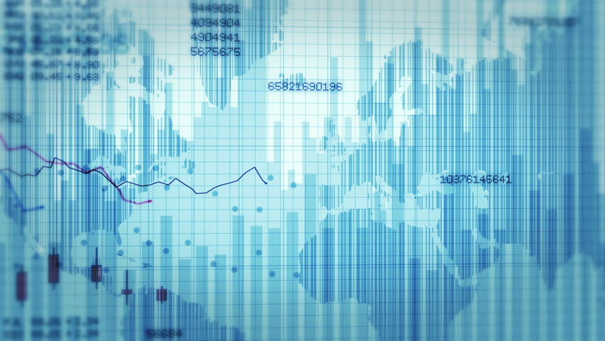 Declining financial chart. Blue and White. 2 videos in 1 file. Economy background. More options in my portfolio.