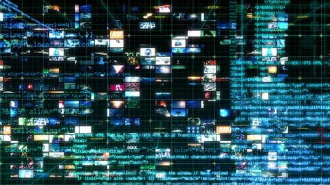Technology Interface - Computer Data Screen Display Animation