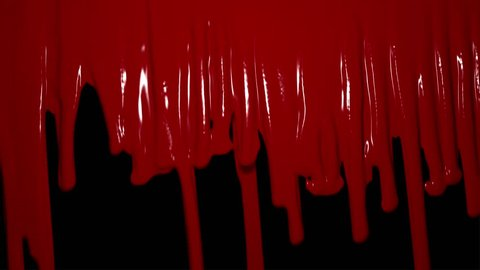 4K version of blood dripping down a wall transition or wipe