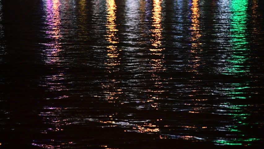 Night Water Reflection