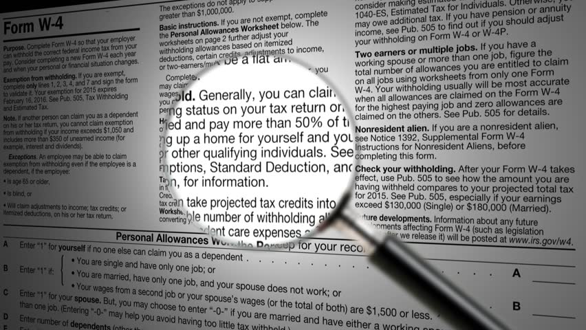Income Tax Return Refund Forms For The IRS 1040 Under The ...