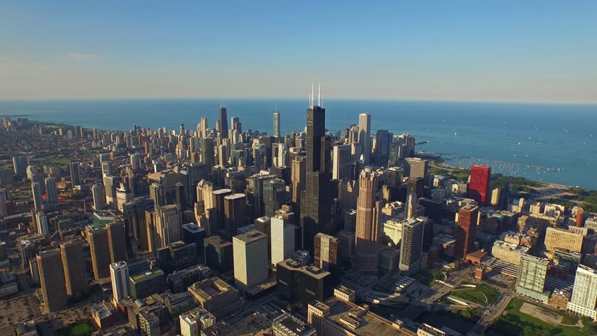 Aerial video of Chicago Illinois during the day.  | Shutterstock HD Video #11876432