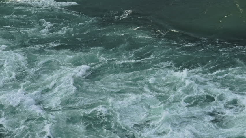 Strong current of water passing through the Niagara river in Niagara Falls, Ontario #11878802