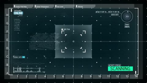 Interface Surveillance Screen.Elements of this image furnished by NASA.