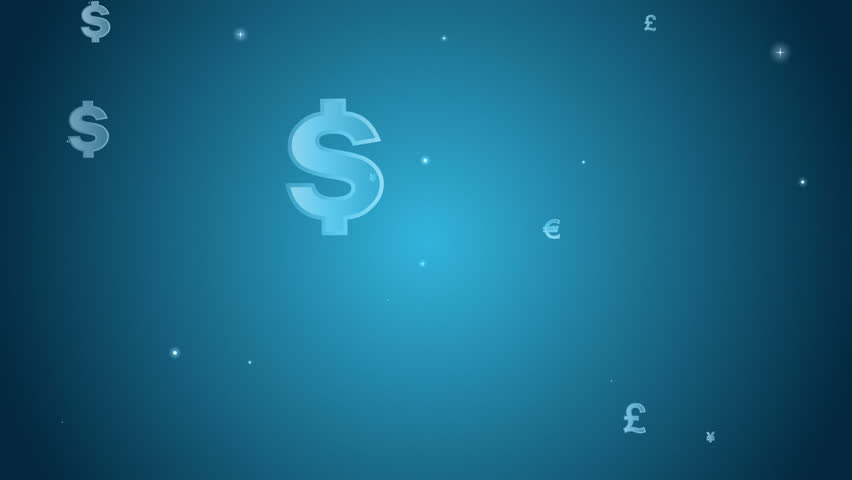 Animated Dollars Sign Japanese Yen Currency Sign Royalty Free Video
