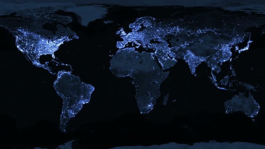 Satellite Map Stock Footage Video Shutterstock - World map satellite hd