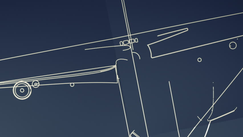 Aircraft Blueprint Smooth Camera Pan and Zoom