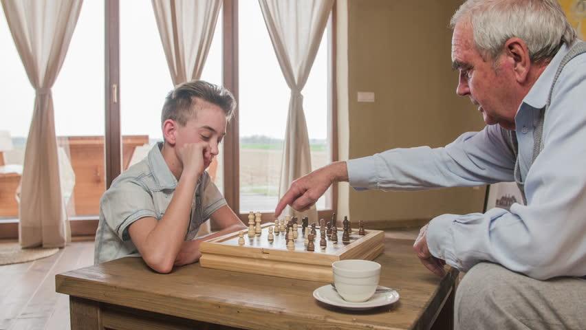Boy And Old Man Play Stockvideos Filmmaterial 100 Lizenzfrei
